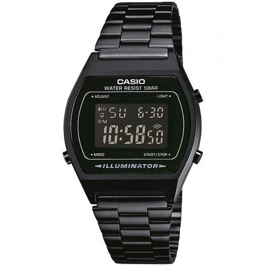 CASIO Digitaluhr Retro Design full black ip schwarz