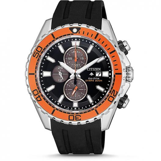 Citizen Herrenuhr Promaster Diver Taucheruhr Eco-Drive mit Diverband