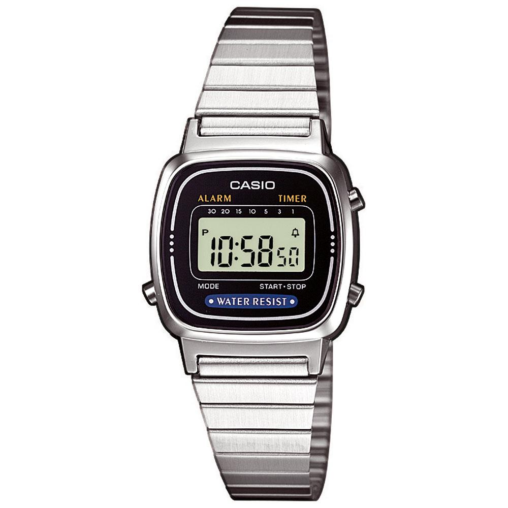 Casio Silberfarben Digitaluhr Kinderuhr Damenuhr Schwarz qzSVUMp