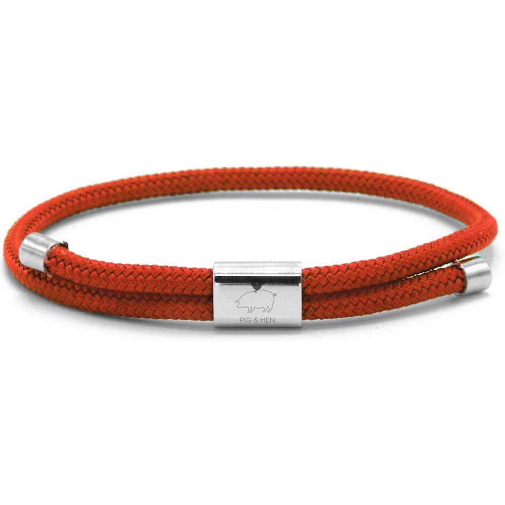 PIG & HEN Herren-Armband *Little Lewis* coral red Größe M