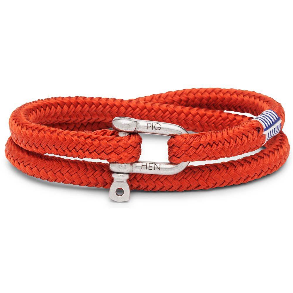 PIG & HEN Herren-Armband *SALTY STEVE* coral red silver Größe M