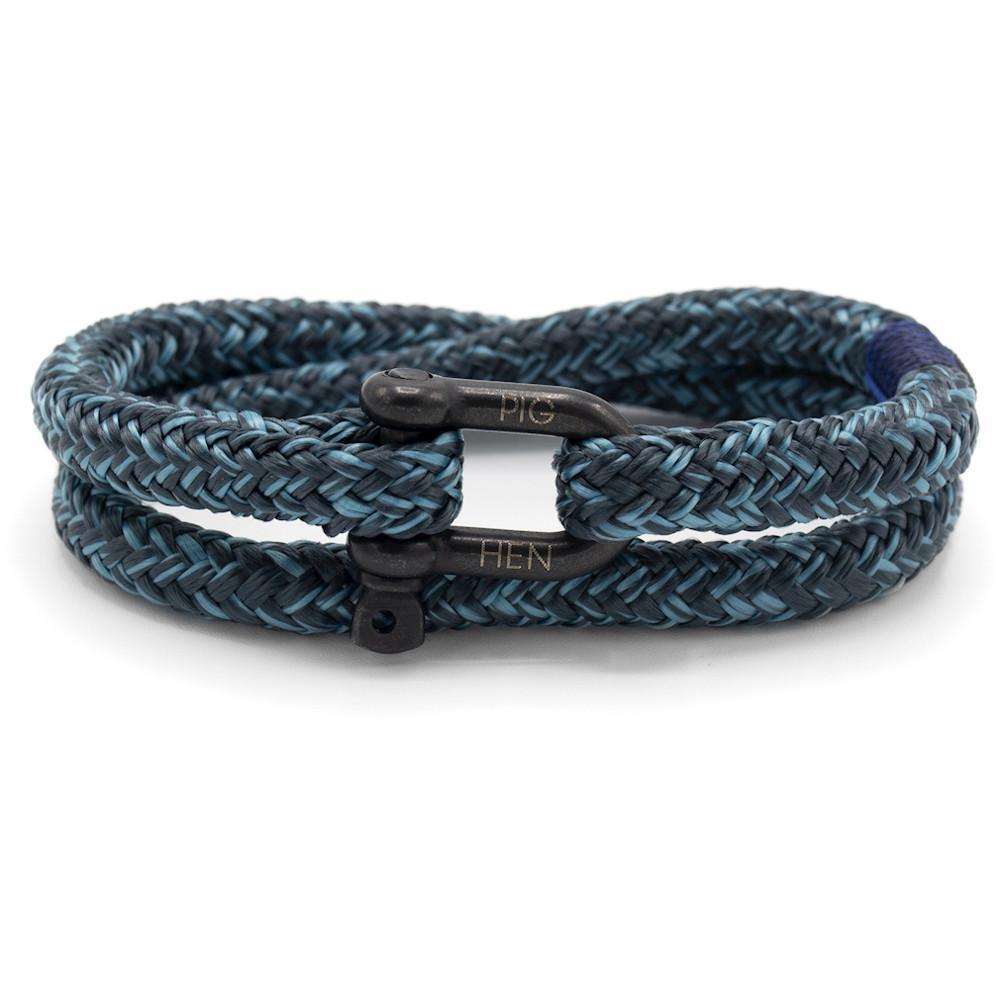 PIG & HEN Herren-Armband *Salty Steve* Größe L, himmelblau/grau